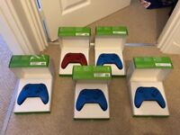 Xbox one wireless controllers x5 blue/red