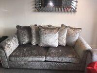 2 crushes velvet sofas