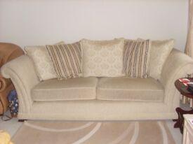 Stylish cream large two setter sofa