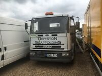 Iveco eurocargo 12 ton 20ft flatbed scaffold truck