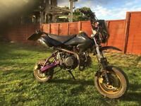 Road legal 125cc pit bike reg as a 50cc