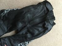 SIZE 10 LEATHER MOTORCYCLE TROUSER