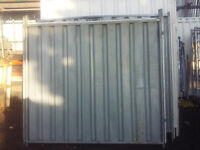 solid heras fencing with gates ( 2 different sizes.)