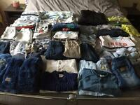 Large bundle baby boy clothes and free play gym