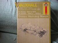 HAYNES CAR MANUAL VAUXHALL VICTOR & VX4/90 1967 - 1972