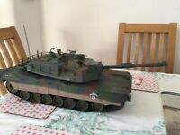 1/16 tiger tank and M1A1 1/16 RC tanks, used for sale