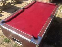 Slate pub pool table