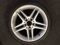 """GENUINE MERCEDES AMG 17"""" ALLOY WHEEL WITH MICHELIN TYRE - 225/45/17"""