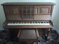 Upright Berry of London piano with stool free if collected