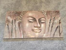 Buddha head canvas picture large