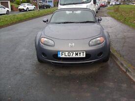 Mazda MX5 in grey , excellent condition , 12 months MOT