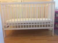 Mokee cot and mattress -great condition, mattress protector included, collection only