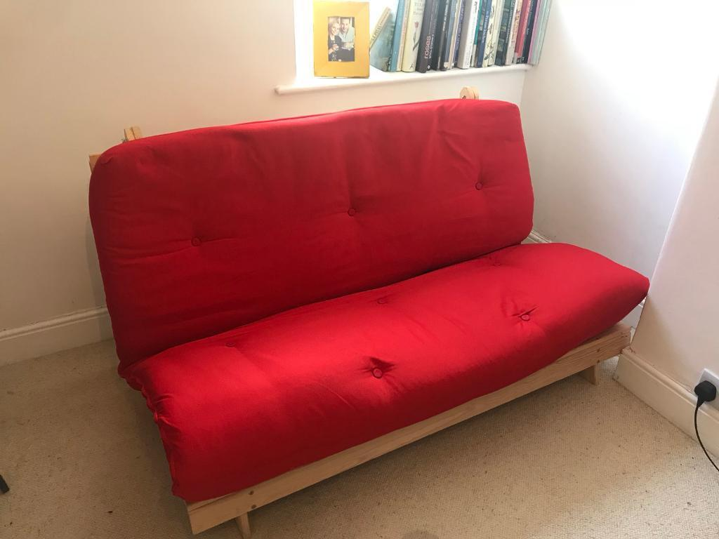 Red Futon Excellent Condition Oxford Company In Woodstock Oxfordshire Gumtree