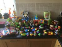A bundle of baby toys/rattles