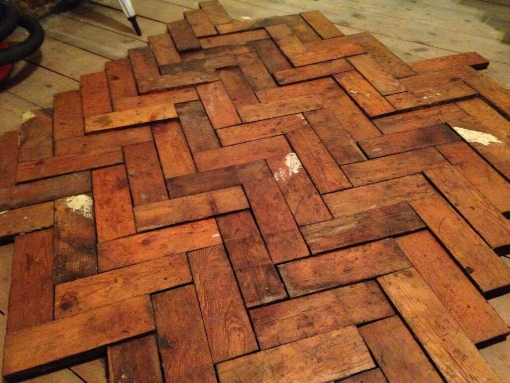 Reclaimed Parquet Flooring Old School Hall 42 Sq