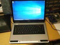 "Toshiba Laptop with 15.6"" Screen windows 7 & Microsoft Office"