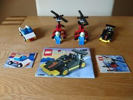 Lego System 1088 Road Burner, 2880 Open Top Jeep, 2849 Gyrocopter Multi Set As New Condition