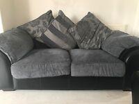 Black & grey sofa x2