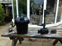 Pond pump and filter box