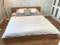 Ikea Malm super king size bed with Silentnight mattress