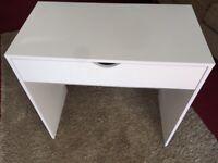 White Desk, pristine/as new condition - small, ideal child's desk £10