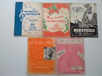 5 music books for 12 Chord Rosewood Organ and Magnus Chord Electric Organ