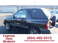 2002 Chevrolet Tracker Softtop and Hardtop