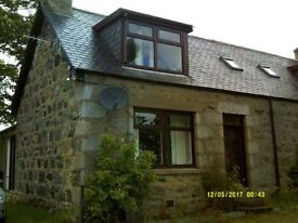 Unfurnished, Semi-detached Property To Let in Forgue, Huntly