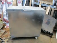 metal box on casters
