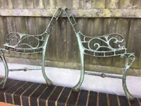 1 Pair Of Cast Iron Garden Bench Ends 17.50