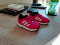 Infant girls Adidas Flux ( pink ) size 5