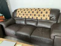 Free Large 3 seater leather couch