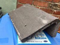 Ridge tiles for outhouse