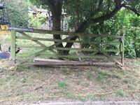 farm gate and smaller pedestrian gate
