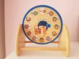 In the night garden wooden clock toy