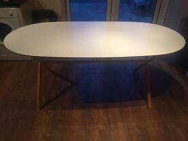 Dining Table IKEA White Wooden Frame