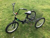 Tricycle 20inch wheels. Ages 7-10yrs approx.