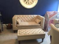 2 seater made .com Flynn sofa beige RRP £599