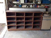 Multi compartment plywood storage unit