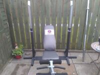 MARCY DIAMOND ELITE MD440 WEIGHTS BENCH WITH PREACHER, SQUAT/BENCH PRESS STANDS AND OLYMPIC BAR £100