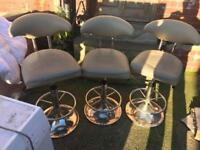 Grey leather barstools + Delivery