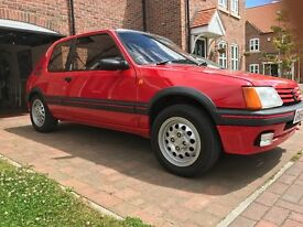 Peugeot 205 gti 1.6 in red '89 modern classic hot hatch