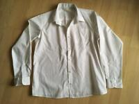 White long sleeved buttoned shirt age 11