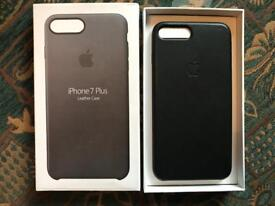 Genuine Apple iPhone 8 / 7 Plus Leather Case Black - Brand New
