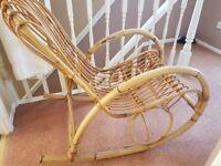 Retro Bamboo Rocking Chair