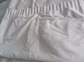 "Cream suede effect lined curtains aprox 48""wide x aprox 56"" long"