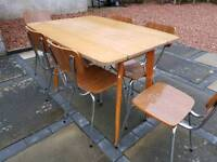 RETRO TABLE AND CHAIRS 60s furniture 1960 shabby chic