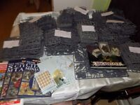 Warhammer and Warhammer 40k mixed Sprues for sale inc books and Dreadfleet game (unboxed)