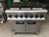 ELECTRIC 3 PHASE 6 RING COOKER UNDER FAN OVEN CATERING COMMERCIAL KITCHEN CAFE KEBAB RESTAURANT BAR