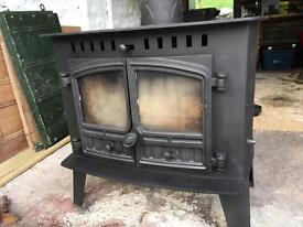 Hunter Multifuel wood burning stove fireplace